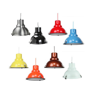 Aeolus Pendant Light | Aluminium, Black, Flame Red, Light Blue, Luminous Yellow, Orange, Pearl Copper, White - Oz Lights Direct