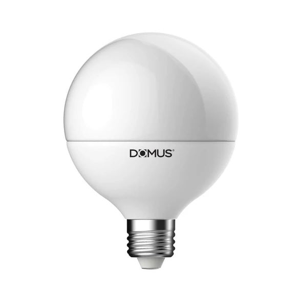 LED Globe Spherical Frost E27 13cm in 27K and 65K Domus Lighting - Oz Lights Direct