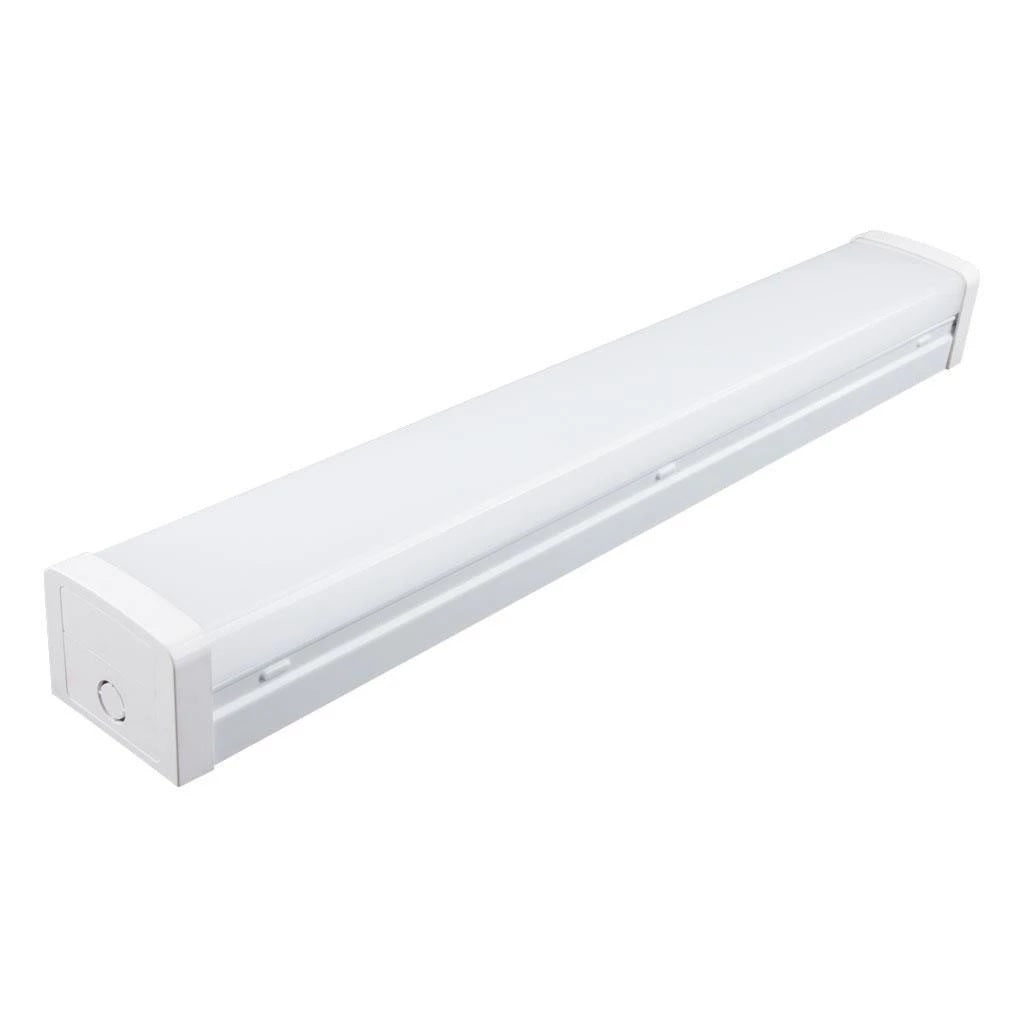 LED Batten Light White Dual Wattage 21W in 5000K Bolt Domus Lighting - Oz Lights Direct
