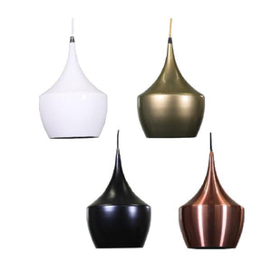 Ebbe Pendant Light | Modern Series in Milky White, Matte Black, Gold and Copper - Oz Lights Direct