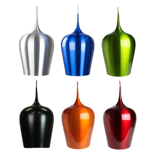 Erato Pendant Light | Classic Series in Aluminium, Blue, Green, Matte Black, Orange and Red - Oz Lights Direct