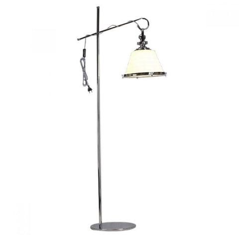 Gaia Elegance Clear Chrome Floor Lamp - Oz Lights Direct