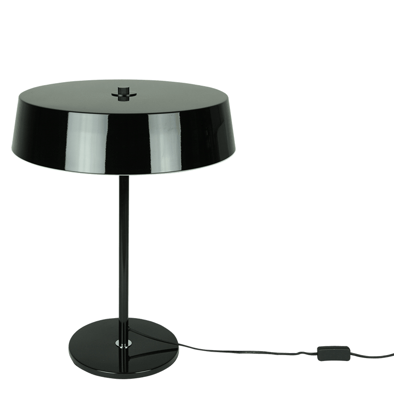 Priam Table Lamp | Black and White - Oz Lights Direct