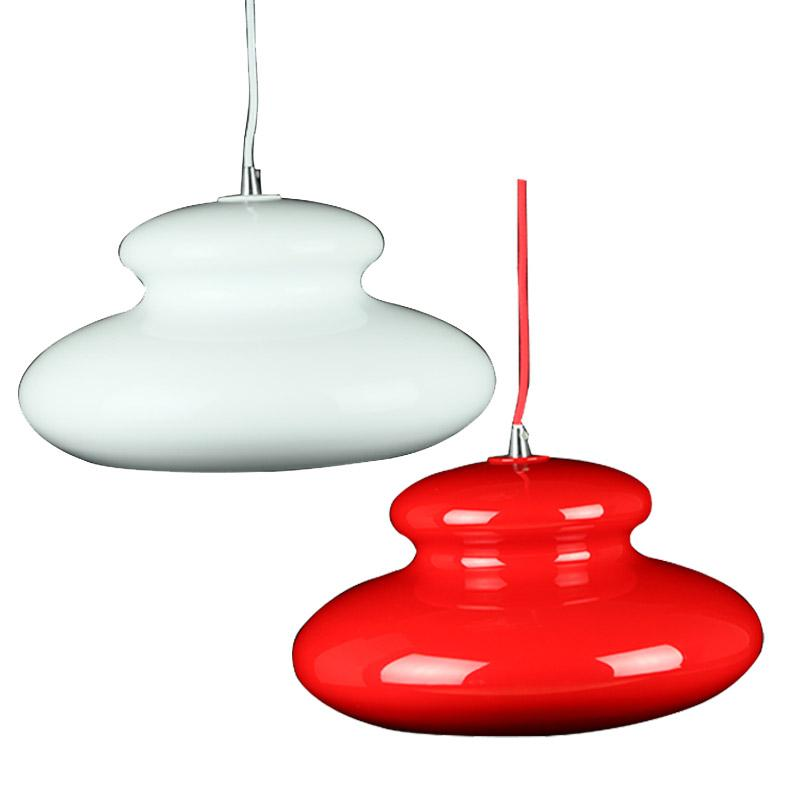 Maia Pendant Light | Red and White - Oz Lights Direct