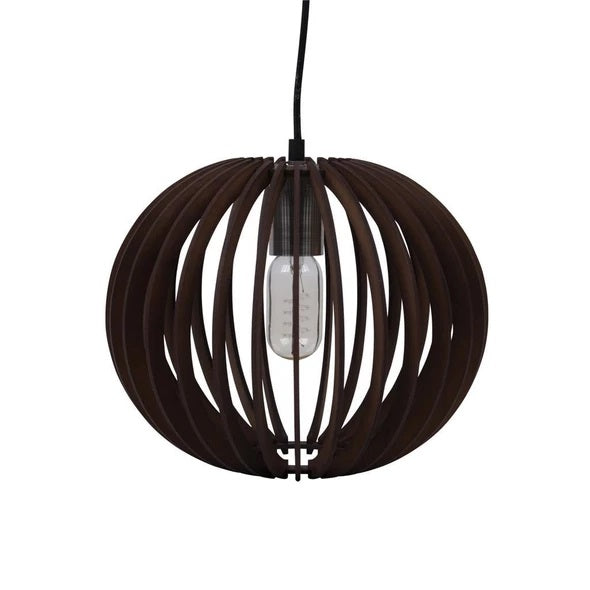 PUFFIN-30 30cm Timber 1.5M Pendant 240V - E27 - Oz Lights Direct