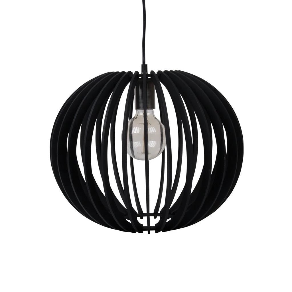 PUFFIN-40 40cm Timber 1.5M Pendant 240V - E27 - Oz Lights Direct