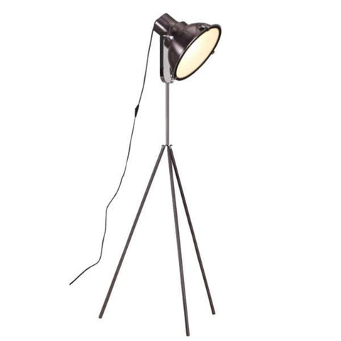 Aeolus Floor Lamp | Metallic Black - Oz Lights Direct
