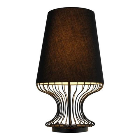 Bacchus Table Lamp | Brown - Oz Lights Direct