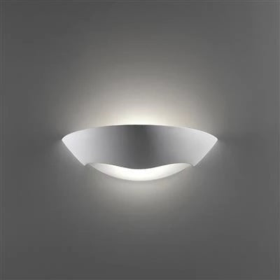 Wall Light Raw Ceramic w Frosted Glass E27 in 36cm BF-8258 Domus Lighting - Oz Lights Direct
