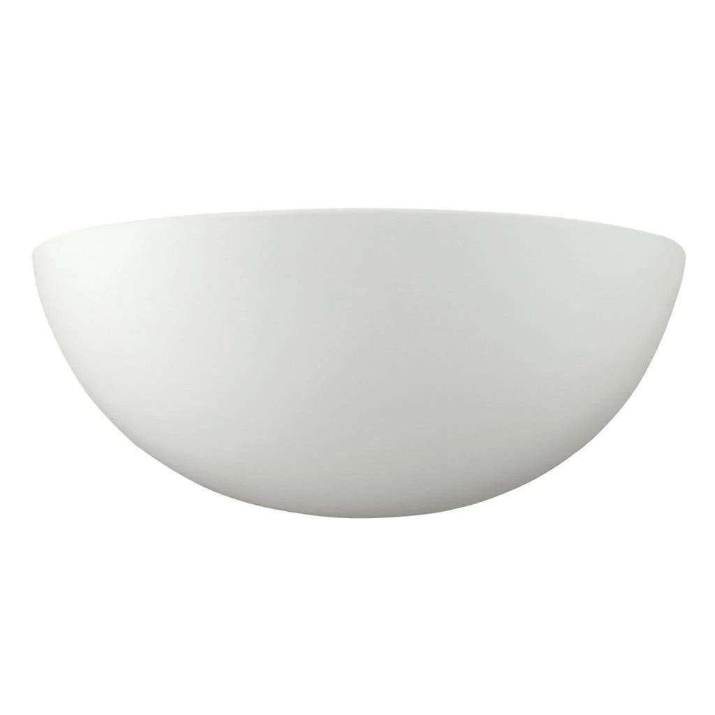 Wall Light Raw Ceramic White E27 in 23cm BF-7310 Domus Lighting - Oz Lights Direct