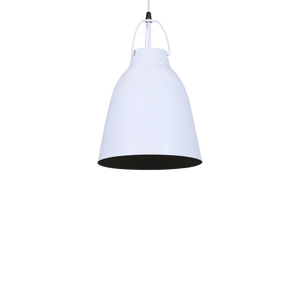 Cilla Pendant Light | Glossy Black and Matt White - Oz Lights Direct