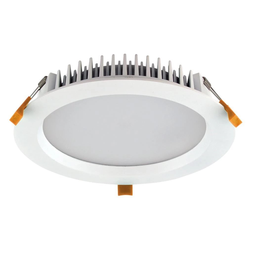 Domus Lighting DECO-28 Round 28W Dimmable LED Downlight - Trio White Frame