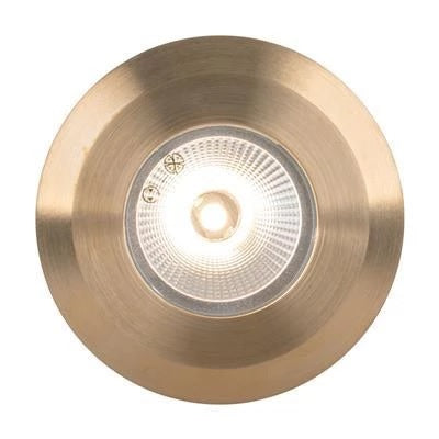 Domus Lighting Deka Round Cover to Suit Deka-Body - Solid Brass - Oz Lights Direct