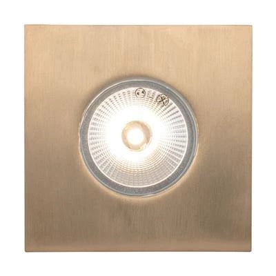 Domus Lighting Deka Square Cover to Suit Deka-Body - Solid Brass - Oz Lights Direct