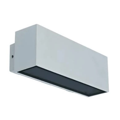 LED Wall Light Twin Silver or White in 3K and 5K in 12W Block Wide Domus Lighting - Oz Lights Direct