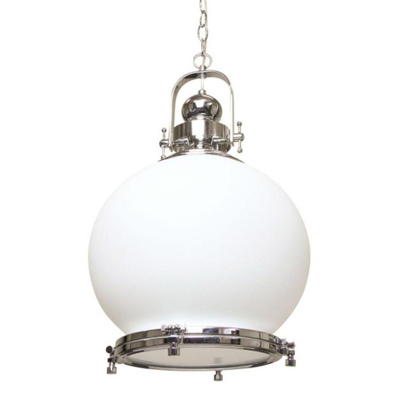 Gelos Round Pendant Light | Clear Chrome - Oz Lights Direct