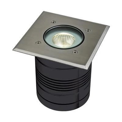 Domus Lighting Modula-Square 24V 9W LED Inground Light Aluminium Finish - 3000K or 6000K - Oz Lights Direct