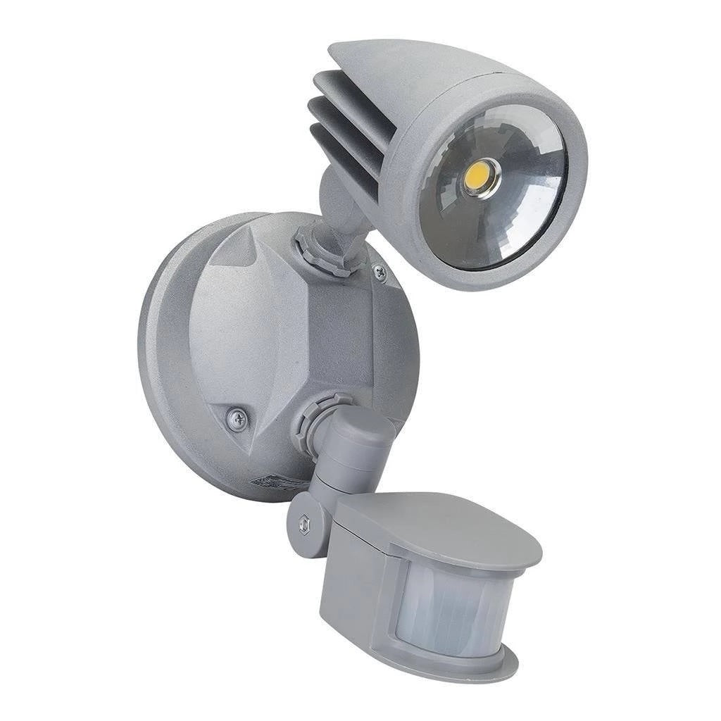 LED Spot Light Single Outdoor 15W in Black Silver or White in 5K Muro Domus Lighting - Oz Lights Direct