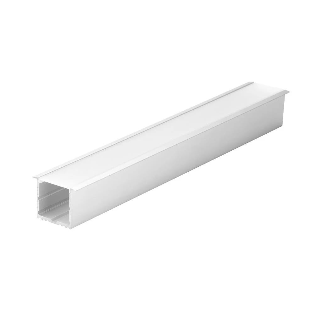 Mounted Profile Recessed Aluminium w Frost Diffuser 100cm Omega Domus Lighting - Oz Lights Direct