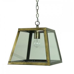 Philo Industrial Cage Vintage Pendant | Antique Brass - Oz Lights Direct