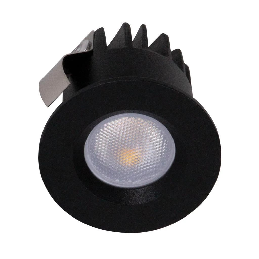 Domus Lighting POCKET-3 Round 3W Recessed Mini LED Kit Black - Oz Lights Direct