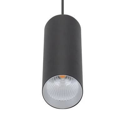 Domus Lighting STAR-PD-10W Modern Cylindrical LED Pendant Black - Oz Lights Direct