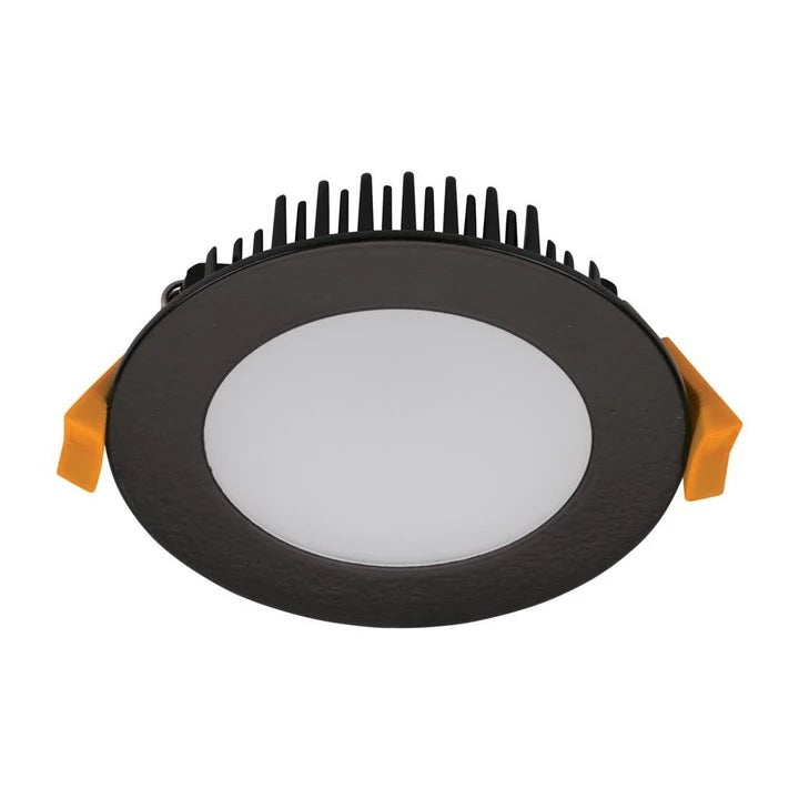 TEK-10 Round 10W Dimmable LED Downlight in Matt Black Domus Lighting - Oz Lights Direct