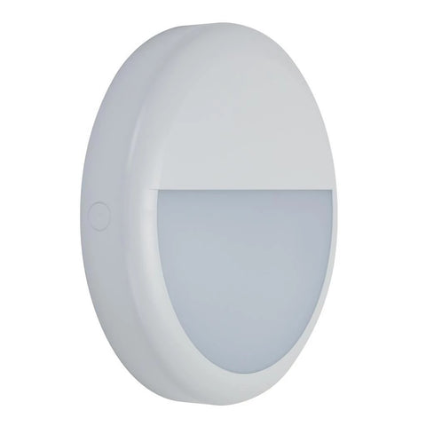Domus Lighting VERSA-300 Round Eyelid LED Bunker Light IP65 240V - White - Oz Lights Direct