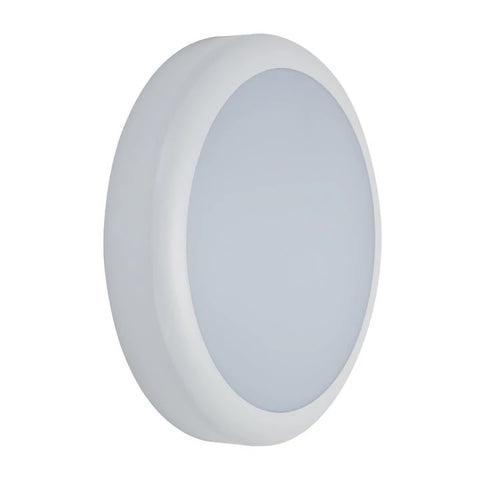 Domus Lighting VERSA-300 Round Plain LED Bunker Light IP65 240V - White - Oz Lights Direct