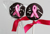 Cancer Ribbon Marshmallow Pop