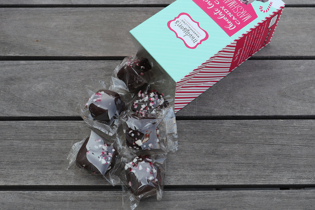 Candy Cane Chocolate Covered Marshmallows {2PK}