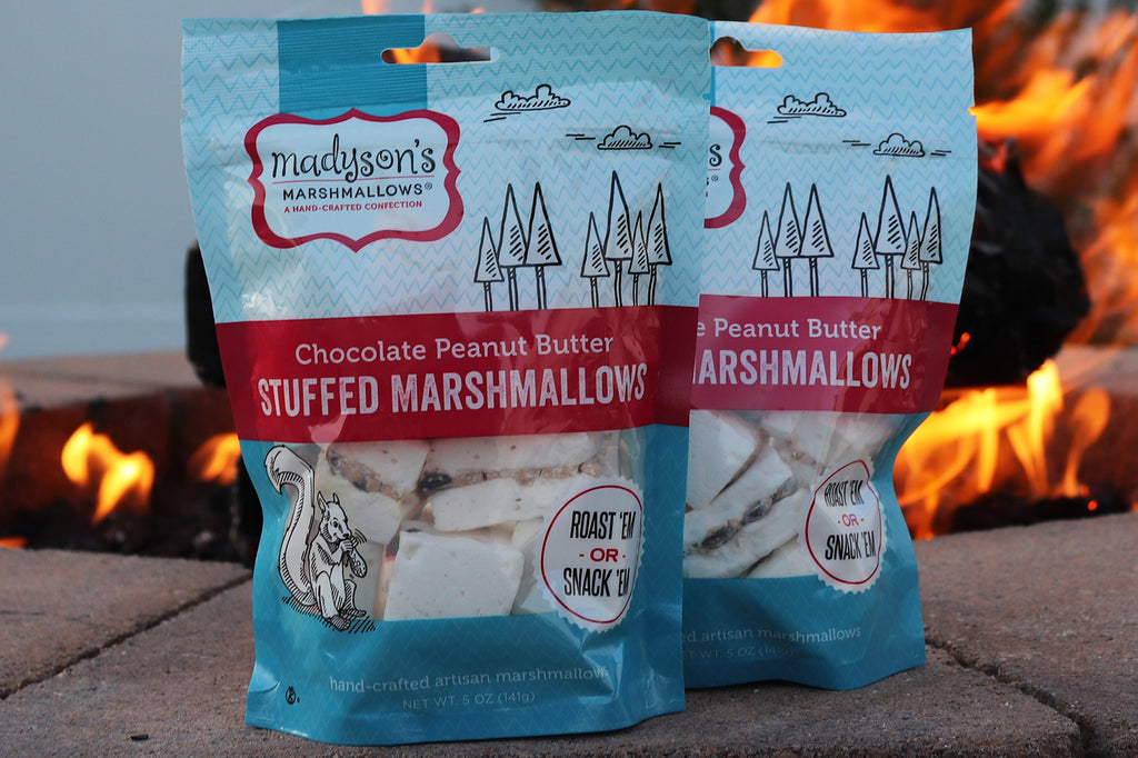 chocolate peanut butter marshmallows - stuffed marshmallows - gourmet marshmallows