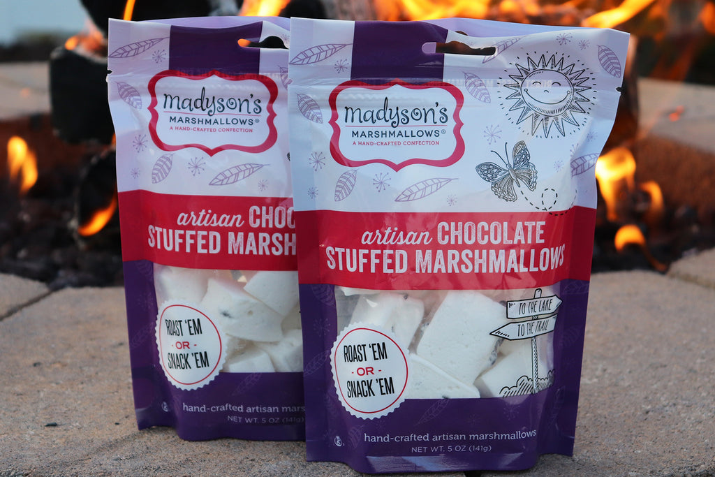chocolate marshmallows - chocolate stuffed marshmallows - gourmet marshmallows - Madyson's Marshmallows