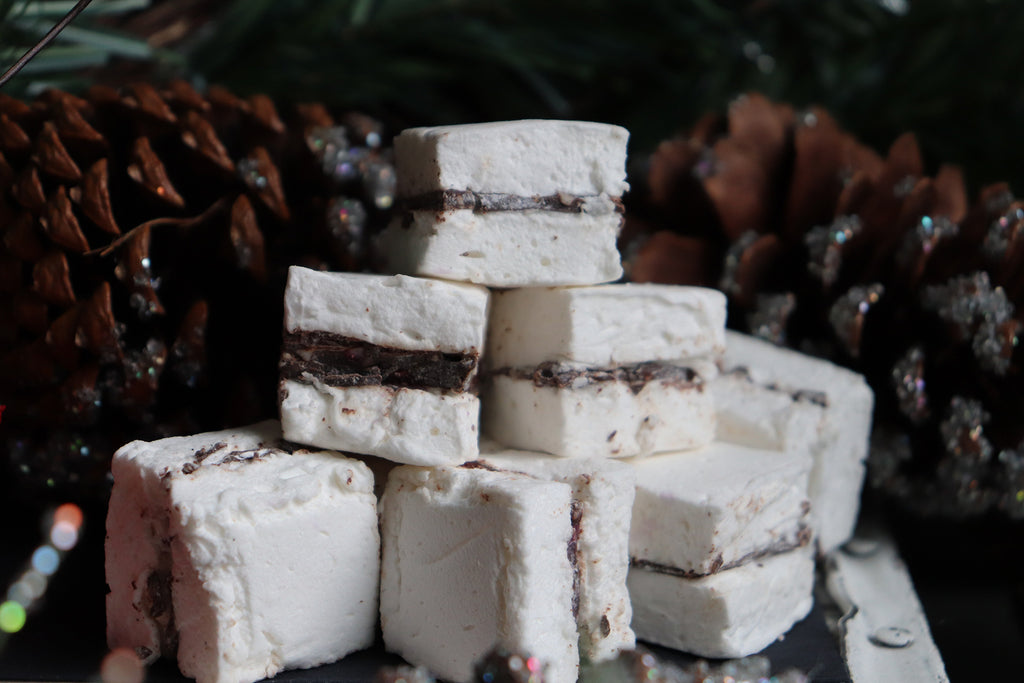 Peppermint Bark Stuffed Marshmallows {3PK}
