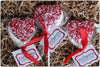 Sprinkled Marshmallow Heart Pops 2.75""