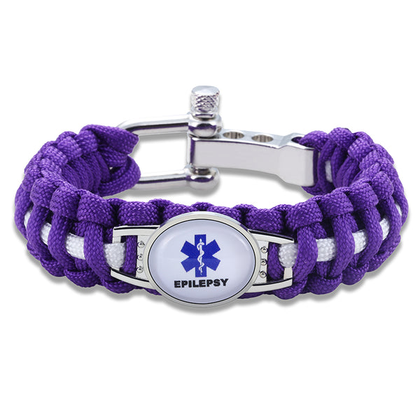 Epilepsy Medical Alert Adjustable Paracord Bracelet (FREE! Just Pay Shipping & Handling) - Shop B4F