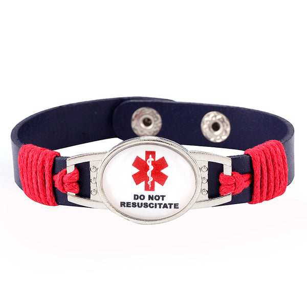 Do Not Resuscitate Medical Alert Adjustable Patent Leather Bracelet (FREE! Just Pay Shipping & Handling)