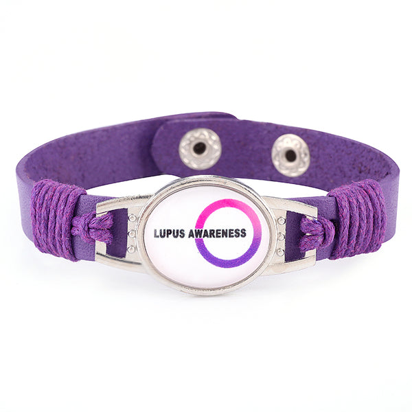 Lupus Awareness Medical Alert Adjustable Patent Leather Bracelet (FREE! Just Pay Shipping & Handling) - Shop B4F