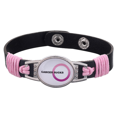Cancer Sucks Medical Alert Adjustable Patent Leather Bracelet (FREE! Just Pay Shipping & Handling)