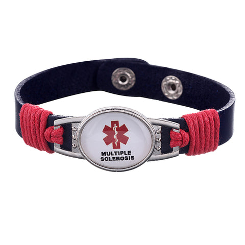 Multiple Sclerosis Medical Alert Adjustable Patent Leather Bracelet (FREE! Just Pay Shipping & Handling) - Shop B4F