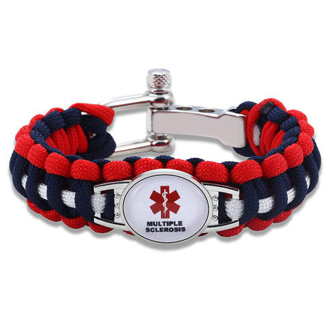 Multiple Sclerosis Medical Alert Adjustable Paracord Bracelet (FREE! Just Pay Shipping & Handling) - Shop B4F