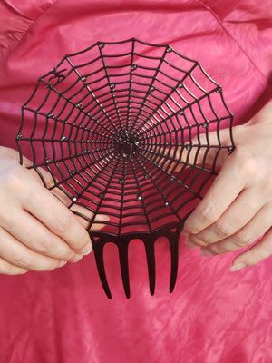 """Charlotte"" <br>Spider Web Hair Comb"