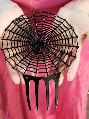 """Charlotte"" Spider Web Hair Comb"