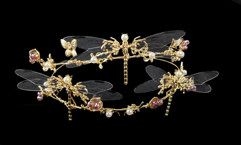 """Vanessa"" Dragonfly Crown"