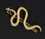"""Elise"" Golden Snake Barrette"