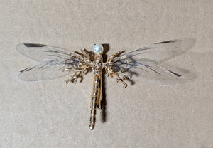 """Oneida"" <BR>Dragonfly Hair Barrette"