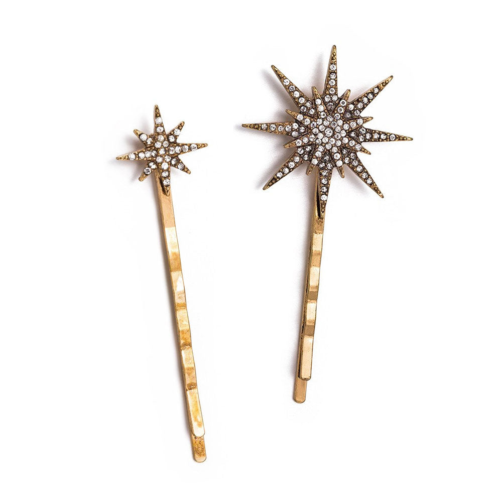 """Stella"" Star Bobby Pin Set"