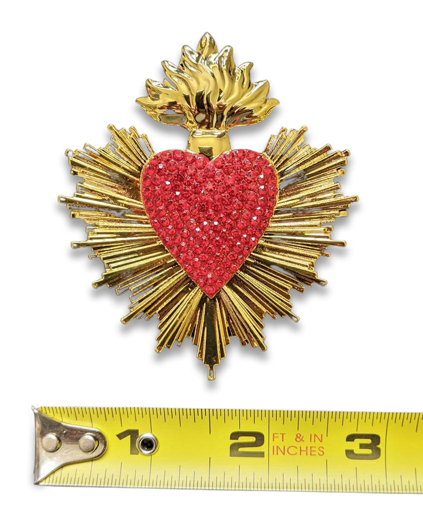 """Gala"" Flaming Heart Brooch"