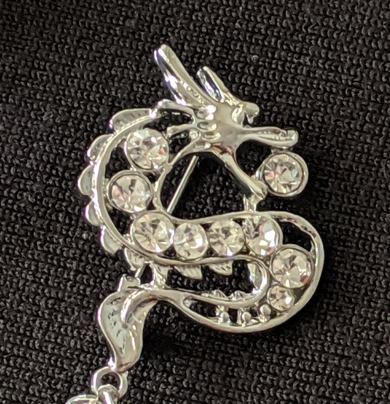 """Neri"" Dragon Chatelaine Brooch"