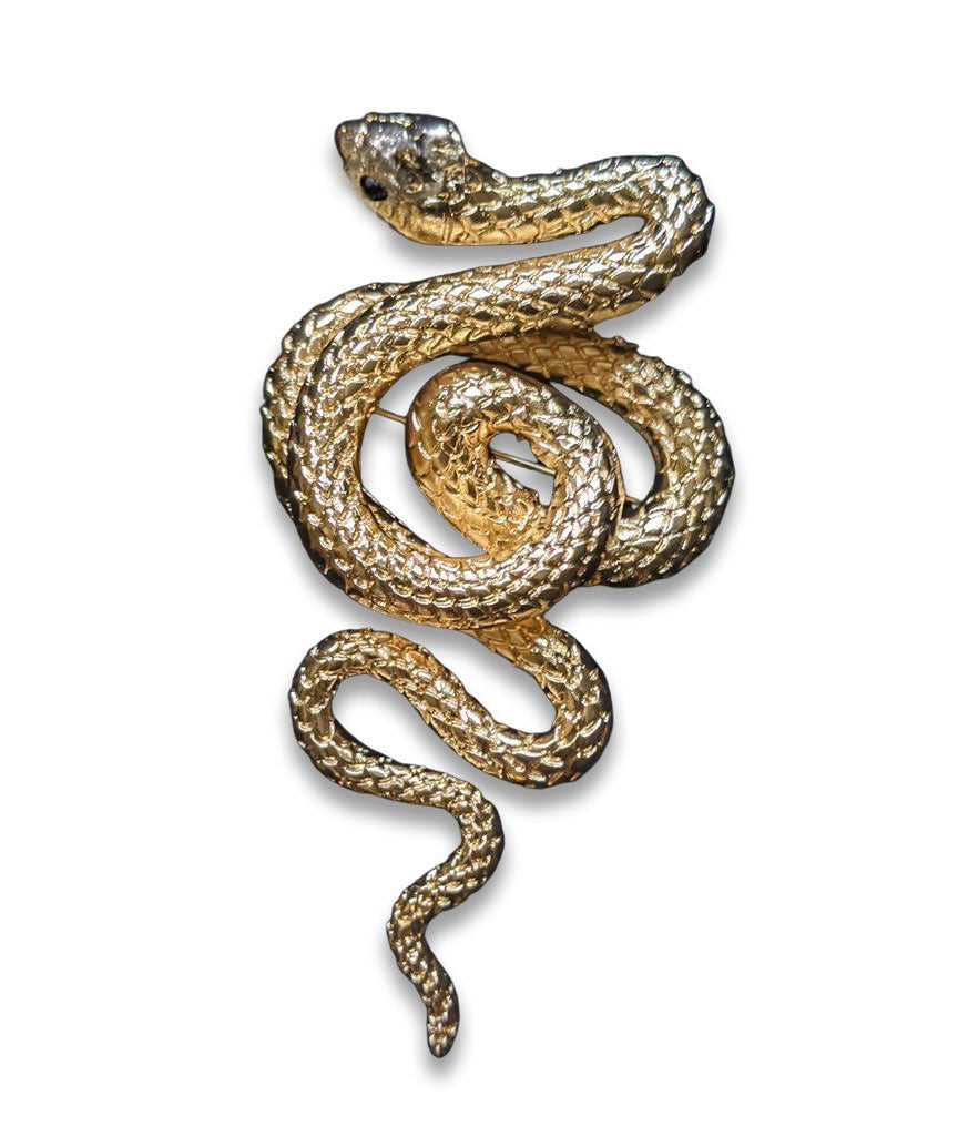 """Phoebe"" Victorian Style Snake Statement Brooch"